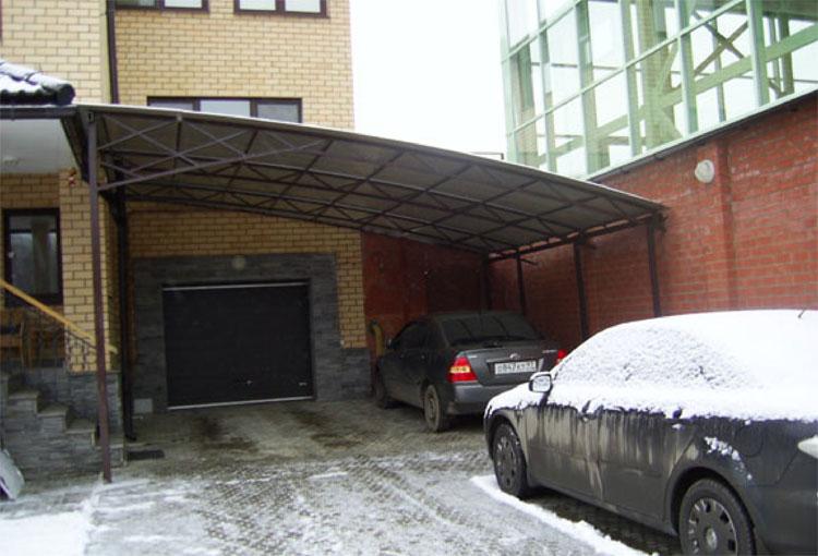 навесы для автомобилей на даче своими руками фото #14